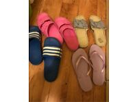 6 pairs of size 3 shoes