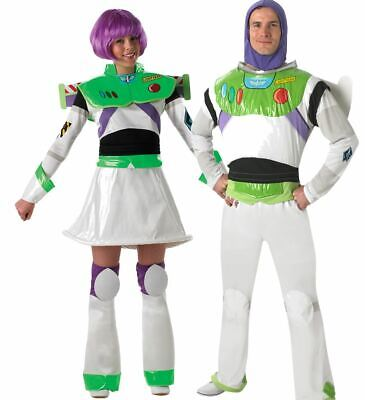 Adult DISNEY BUZZ LIGHTYEAR Fancy Dress Costume Ladies Mens Theme Party Miss