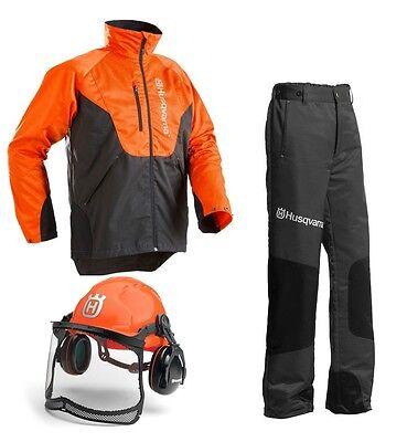 Husqvarna Set Schnittschutzhose Jacke und Helm  Classic Neu/ OVP für Motorsäge