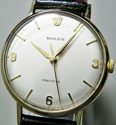 Rolex PRECISION 9K Gold Coin Edge Case /Hand-Winding Men