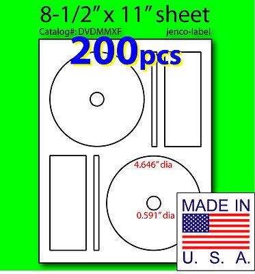 Dvdmmxf 200 Cddvd Labels Memorex Compatible Full Face