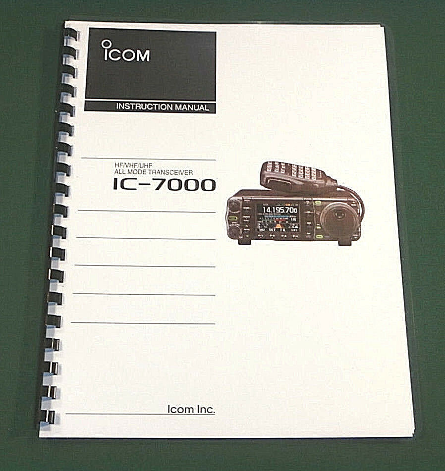 Icom Ic-7000 Instruction Manual: Premium Card Stock Cover...