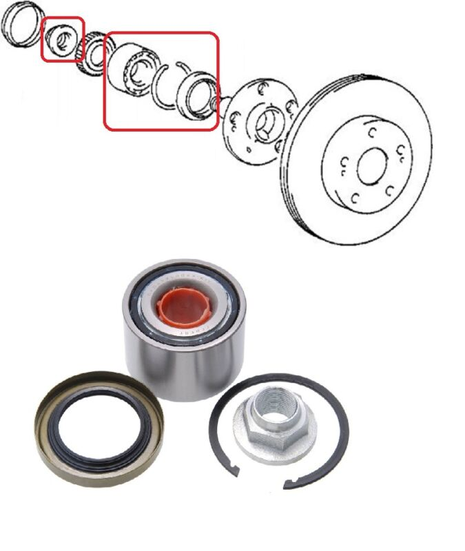 FRONT WHEEL BEARING KIT 35X77X42 FOR LEXUS GS300 LS400 SC430 TOYOTA SOARER SUPRA
