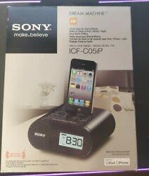 Sony Dream Machine Alarm Clock Radio for iPhone/iPod - ICF-C05IP, Black. (MINT)