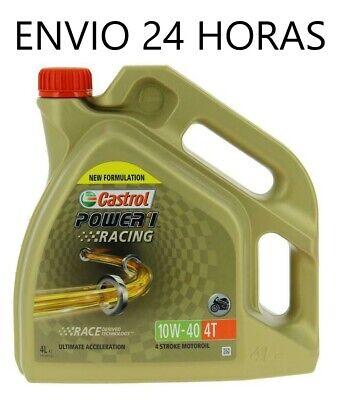 Aceite moto castrol 10w40 power 1 racing 4 litros 4 tiempos envio...