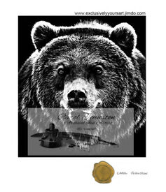 Exquisite artwork for sale - Growling Bear
