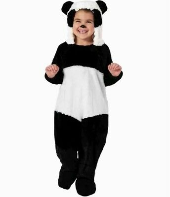 Panda Bear PLUSH Solf Jumpsuit Costume Child Infant Toddler 18-24 months 2T New - Panda Bear Costume Toddler