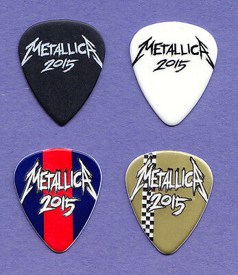 Metallica James Hetfield 4 Guitar Pick Set - 2015 Tour
