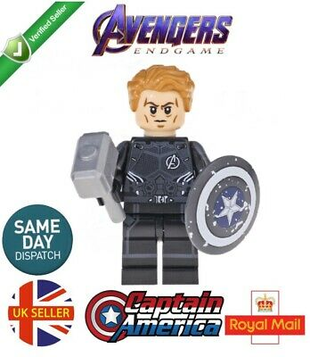 RARE LEGO MINIFIGURE THOR WITH STORM BREAKER AND MJOLNIR AVENGERS ENDGAME MARVEL
