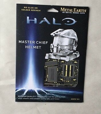 HALO MASTER CHIEF HELMET METAL EARTH 3D METAL MODEL KITS MUSEUM QUALITY NO