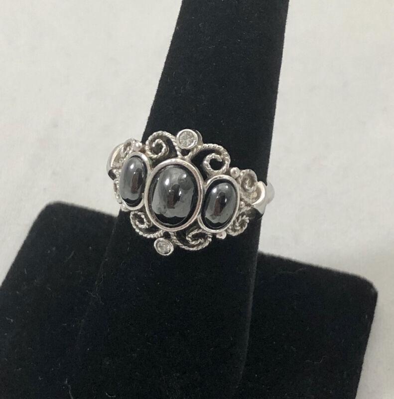Vintage Avon Hematite Ring Size 6-7