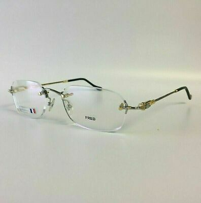 New Fred Lunettes Orcade Gold Silver Rope Frames 52mm Eyeglasses (Lunettes Glasses)