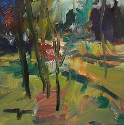 JOSE TRUJILLO Original IMPRESSIONISM Artwork TREES PLEIN AIR LANDSCAPE TONALIST