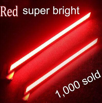 2X Red Super Bright COB Car LED Light DRL Fog Driving Lamp Waterproof 12V NEW