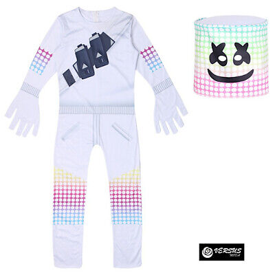 Simil Marshmello Vestito Carnevale Bambino Cosplay Overall Costume - Carnevale Kostüme