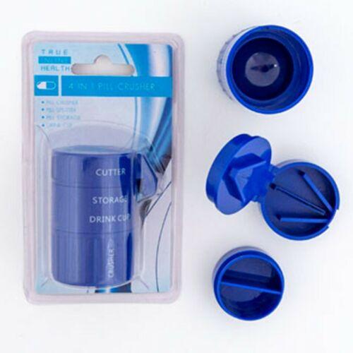 NEW 4 in 1 Pill Pulverizer Tablet Grinder Medicine Cutter Crusher Drink Storage
