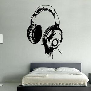 cuffie-DJ-adesivo-artistico-da-parete-Cameretta-ragazzi-bambini-BR54