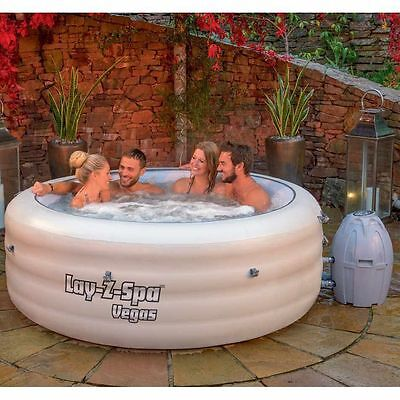 BESTWAY LAY Z SPA VEGAS AIRJET INFLATABLE HOT TUB JACUZZI 4-6 PERSON 2017 MODEL