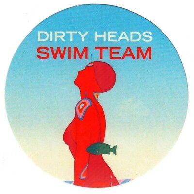 DIRTY HEADS Swim Team 2017 Ltd Ed New RARE Sticker +FREE Rock Punk Alt Stickers!