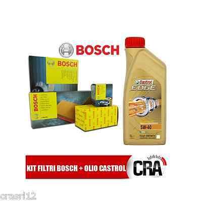 Kit Inspección Aceite castrol edge 5W40 5LT 4 Filtros Bosch VW 6...