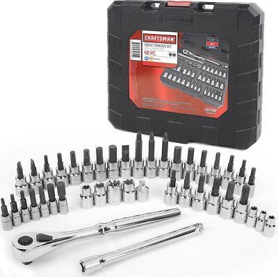 Craftsman 42 pc 1/4 3/8-inch Drive Torx Hex Bit Socket Wrench Ratchet Set + Case