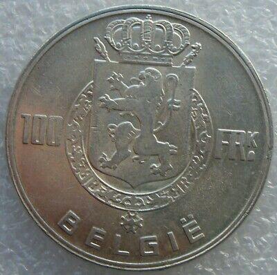 BELGIE 100 FRANK 1951 (nl), ZILVEREN MUNT, 835/1000