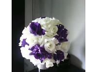 Beautiful wedding bouquet.... Handmade for our wedding 12 days ago