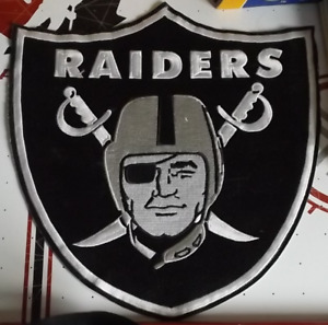 RAIDERS Patch - 12' x 12'  good shape, great for jacket or wall