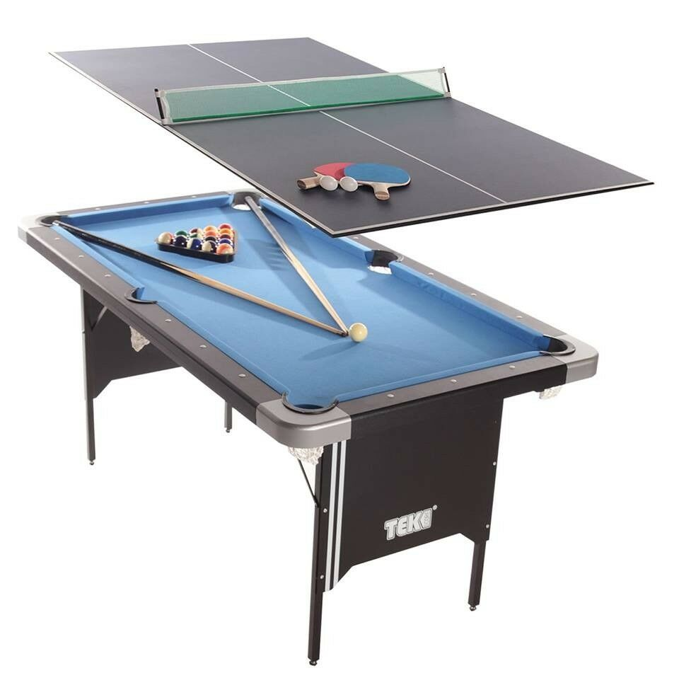 Tekscore Full Size Pool Table With Fold Out Legs Tennis Top