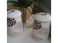 Coffee and Tea Storage Ceramic Set