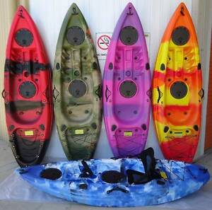 NEW 9FT SINGLE SIT ON OCEAN FISHING KAYAK CANOE SURF SKI St Marys Penrith Area Preview
