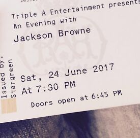 2 x GREAT Jackson Browne Tickets for Royal Albert Hall London this Saturday 24th June