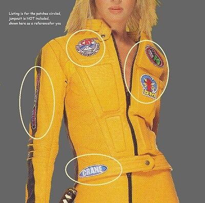 FANCY DRESS HALLOWEEN PARTY COSTUME as seen on Movie KILL BILL 5-PATCH SET