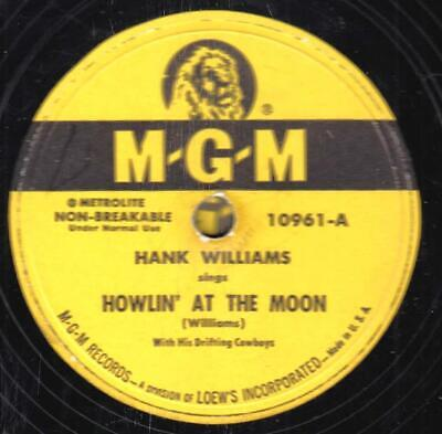 78-HONKY TONK-HANK WILLIAMS-HOWLIN' AT THE MOON/I CAN'T HELP IT on MGM