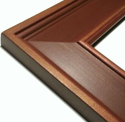 36 ft - Wide Country Estate WOOD Picture Frame Moulding, Brick Red & Walnut Fade
