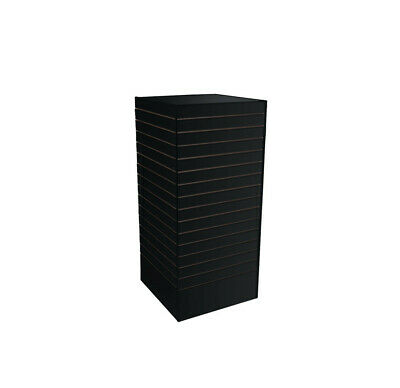 24 X 24 X 54 Black Slatwall Tower Unit Retail Store Display Fixture