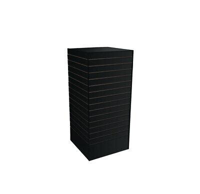 Slatwall Tower Unit Retail Store Display Fixture 24 X 24 X 54 - Black