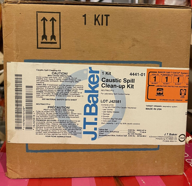 J.T. Baker 4441-1 Caustic Spill Clean-Up Kit