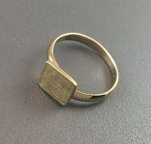 Gold Vermeil Ring Blank 8x10mm Pad Base Adjustable Style Premium Quality Finding