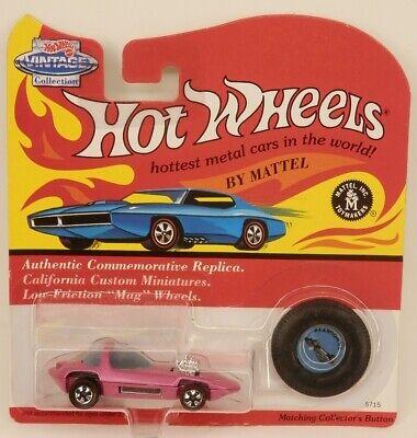 Hot Wheels Vintage Series Silhouette Show Car Light Pink 1/64 Scale 1 Light Vintage Series