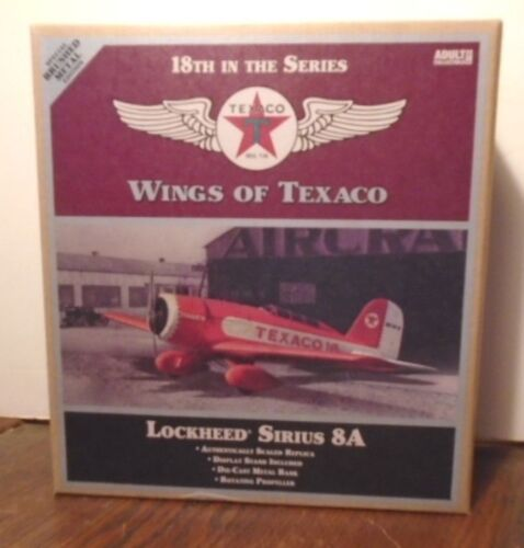 2010 WINGS TEXACO LOCKHEED AIRPLANE #18 SPECIAL BRUSHED METAL EDITION, MINT BOX