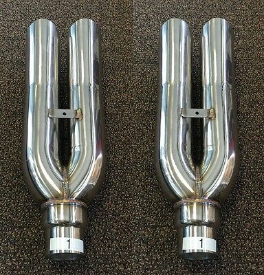 2 PCS of 1320 Performance Blastpipes V1 blast pipe exhaust STAINLESS UNIVERSAL