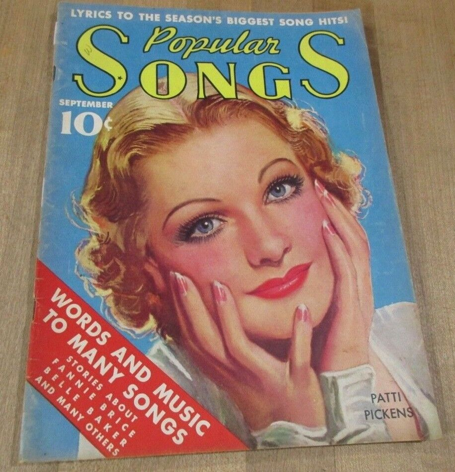 Popular Songs September 1936 Patti Pickens Fannie Brice Reisers Britton Band  - $7.99
