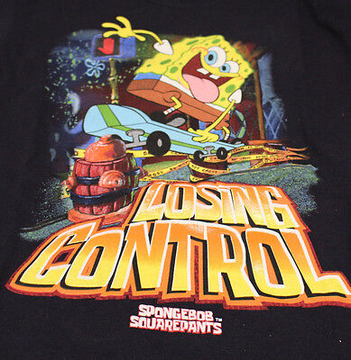 New NWT Sponge Bob Square Pants Skateboard Shirt Youth Size Large