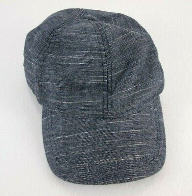 Zara Men Hat Denim Blue Baseball Cap Size M Adjustable Snapback