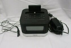 iHome iPL8BN Stereo FM Clock Radio with Lightning Dock for iPhone TESTED (BS)
