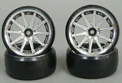 Fly Wheels 1/10 Large 2.2 DRIFT WHEELS 6-9MM DIY  56x34mm CHROME lip CHROME