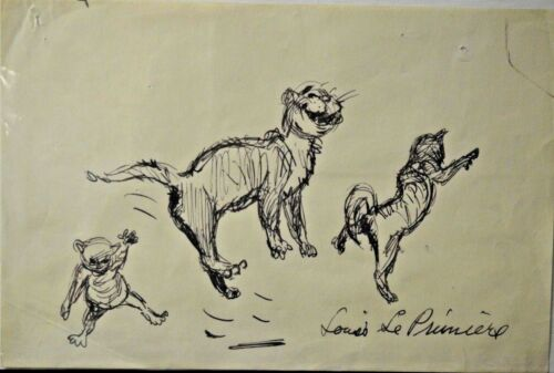 "Disney ""KITTENS"" The Aristocats Original Storyboard Drawing"