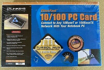 ETHERFAST 10/100 PC CARD LINKSYS PCMOC100 VER 2