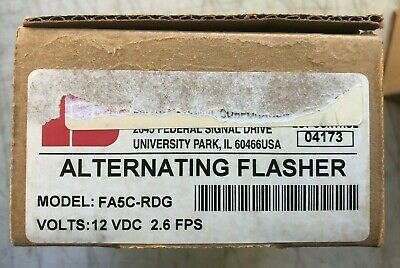Federal Signal Fa5c-rdg Electronic Headlight Alternating Flasher Fire Police Ems